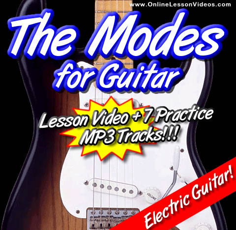 THE MODES - For Guitar - WITH TABLATURE AND WITH 7 PRACTICE TRACKS ON MP3!