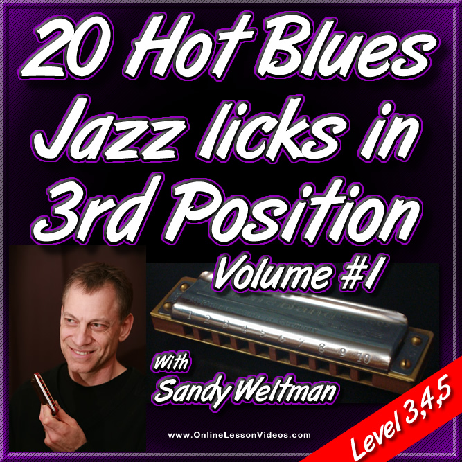 20 Hot Blues Jazz Licks in 3rd Position Vol. 1 - For Harmonica