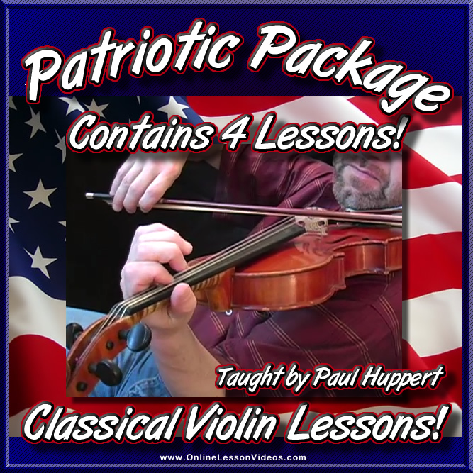 Patriotic Song Package - 4 Lessons for Violin