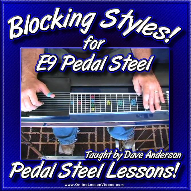 BLOCKING STYLES - for E9 Pedal Steel
