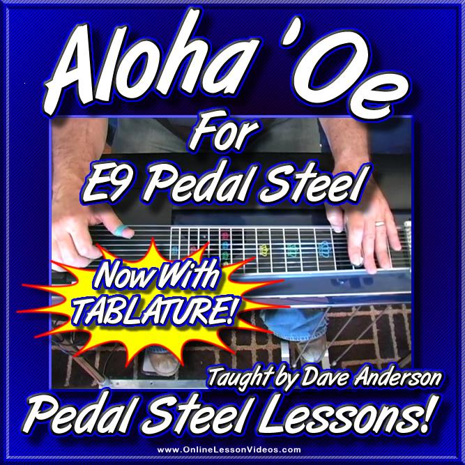Aloha 'Oe - Hawaiian Song for E9 Pedal Steel