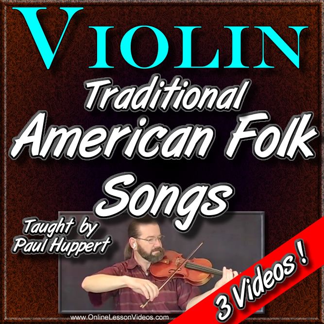 3 Traditional American Folk Songs - For Violin