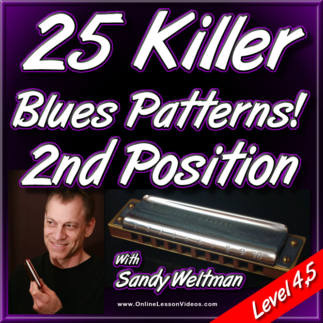 25 Killer Blues Patterns - 2nd Position - For HARMONICA