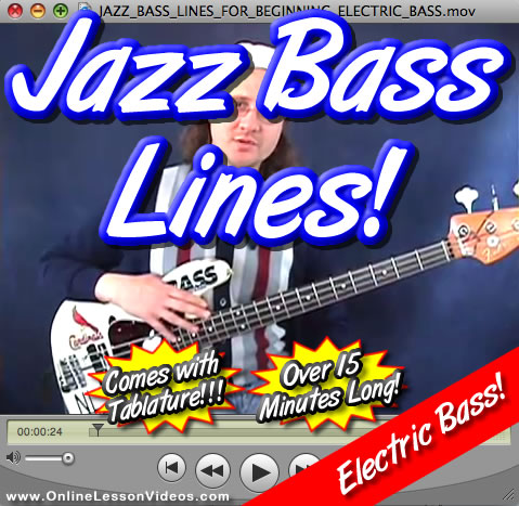 JAZZ BASS LINES - WITH TABLATURE!