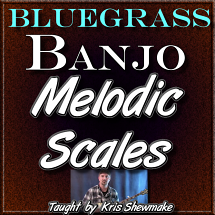 MELODIC SCALES - For Banjo - WITH TABLATURE
