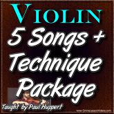 5 Intermediate Level Songs plus Technique Package
