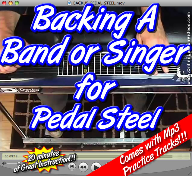 HOW TO BACKUP A BAND OR A SINGER - for E9 Pedal Steel - WITH MP3 PRACTICE TRACKS