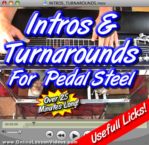 Intros and Turnarounds - for E9 Pedal Steel Guitar