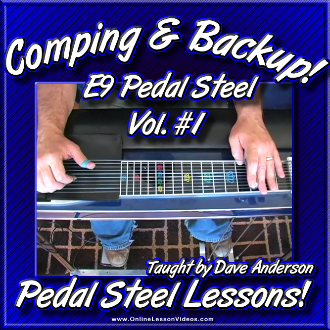 Comping and Backup for E9 Pedal Steel Vol. #1