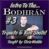 Triplets and Rim Shots for Bodhrán
