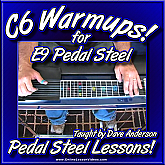 C6 Warmups for E9 Pedal Steel