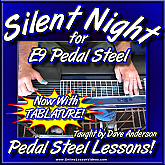 Silent Night for E9 Pedal Steel