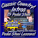 Classic Country Intros - Volume 2 - for Pedal Steel