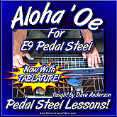 Aloha 'Oe - Hawaiian Song for E9 Pedal Steel