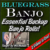 Essential Backup Banjo Rolls - Vol. 1