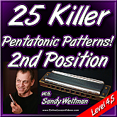 25 Killer Pentatonic Patterns - 2nd Position - For HARMONICA
