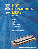 101 Hot Harmonica Licks - EBook - TAB + Mp3s by Sandy Weltman