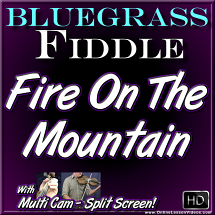 FIRE ON THE MOUNTAIN - for Bluegrass Fiddle