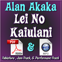Le No Ka'iulani - Hawaiian Lap Steel - PDF Tablature & Mp3 Jam Track & Performance Track