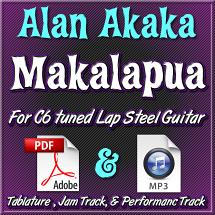 Makalapua - Tablature & Mp3 Tracks - arr. by Alan Akaka