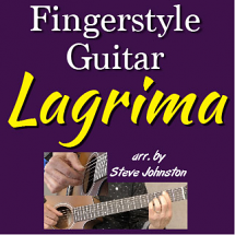 Lagrima - for Fingerstyle Guitar