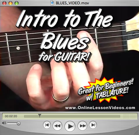 INTRO TO THE BLUES - For Guitar - WITH TABLATURE!