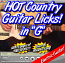 HOT COUNTRY LICKS - For Guitar - IN G - WITH TABLATURE