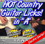 HOT COUNTRY LICKS - For Guitar - IN THE KEY OF A + TABLATURE!!!