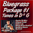 Bluegrass Package #1 - Key of D & G Tunes for the Fiddle