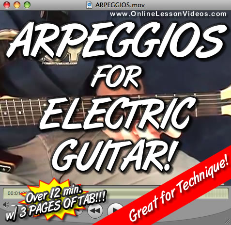 ARPEGGIOS FOR ELECTRIC GUITAR