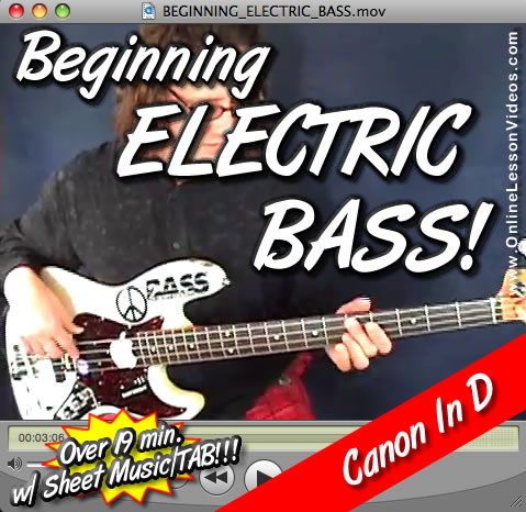 BEGINNING ELECTRIC BASS + CANON IN D