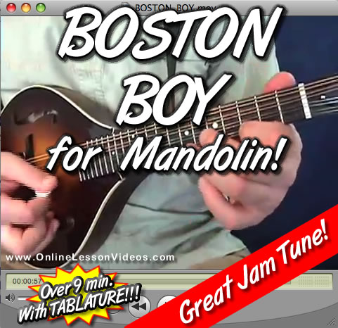 BOSTON BOY - For Mandolin - WITH TABLATURE!!
