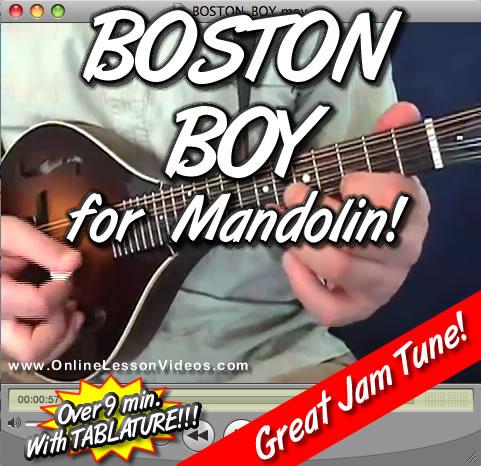 BOSTON BOY - For Mandolin - WITH TABLATURE!!