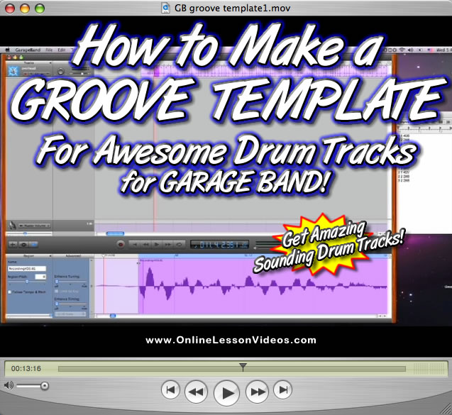 FOR GARAGE BAND RECORDING - HOW TO GET AMAZING SOUNDING DRUM TRACKS WITH A GROOVE TEMPLATE