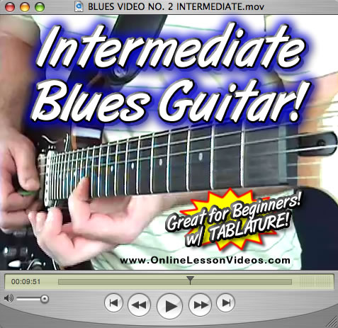 INTERMEDIATE BLUES - For Guitar - WITH TABLATURE!