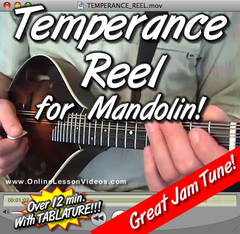 TEMPERANCE REEL - For Mandolin - WITH TABLATURE!!